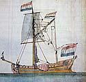 Прототип яхты «Святой Петр». Корабельный архитектор Ф.К. ван Дове. Кон. XVII – нач. XVIII в.
